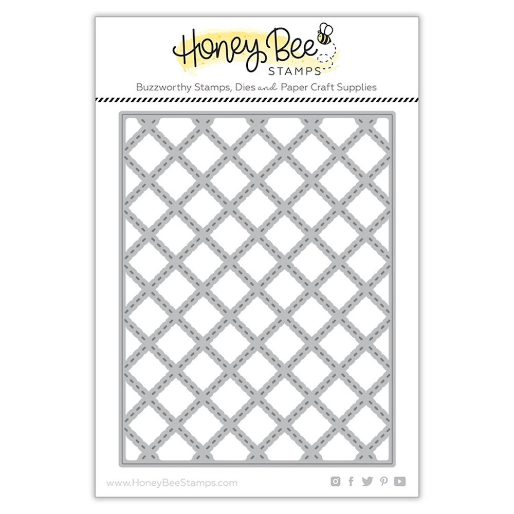 Honey Bee QUILTED A2 COVERPLATE Dies hbdsqa2c zoom image