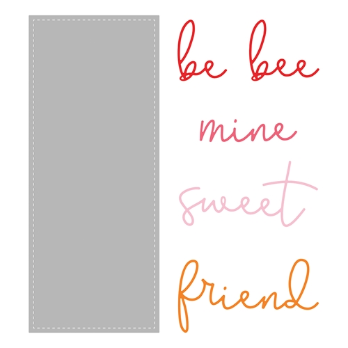Honey Bee SLIMLINE SENTIMENTS STITCHED Dies hbdsssst Preview Image