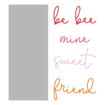 Honey Bee SLIMLINE SENTIMENTS STITCHED Dies hbdsssst