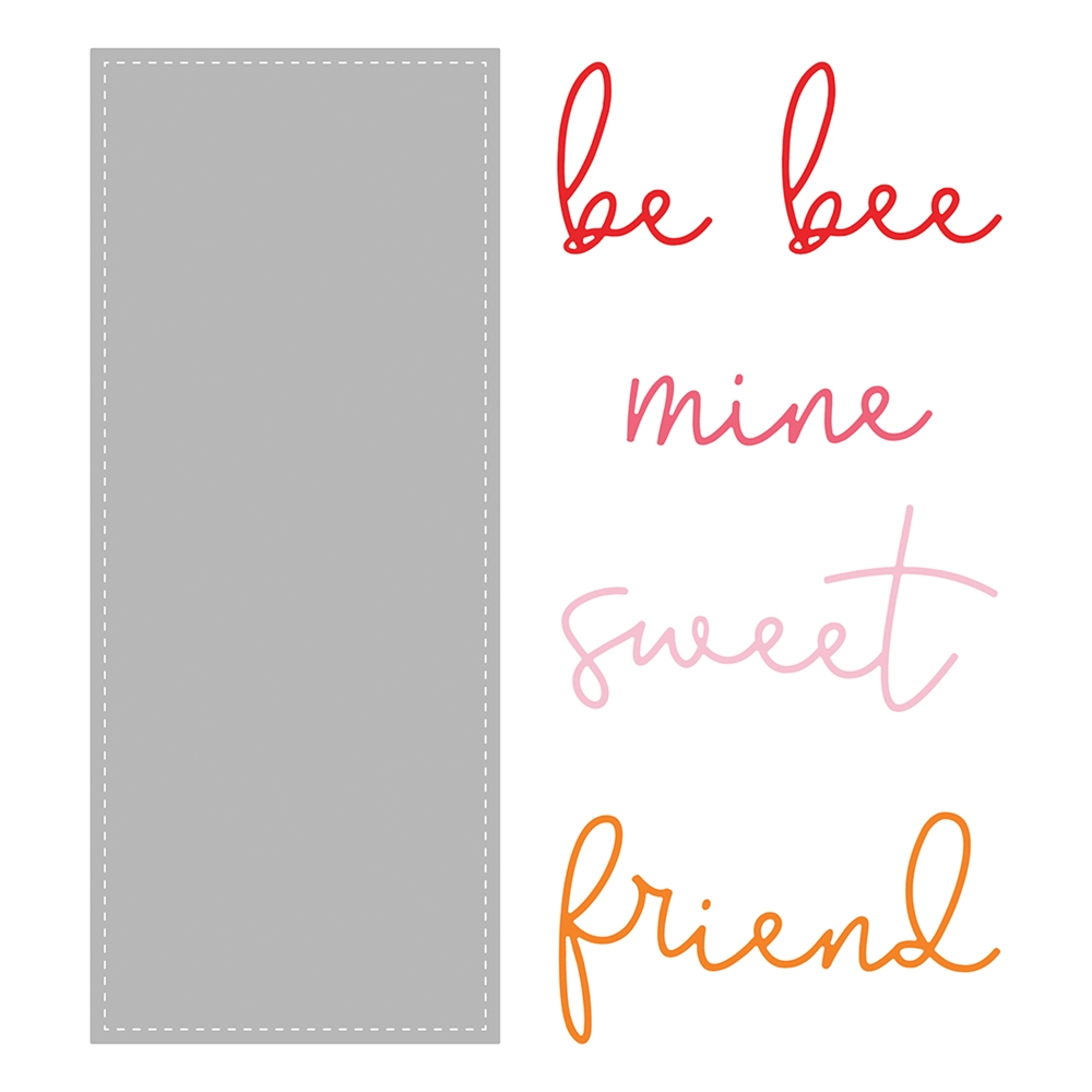 Honey Bee SLIMLINE SENTIMENTS STITCHED Dies hbdsssst zoom image