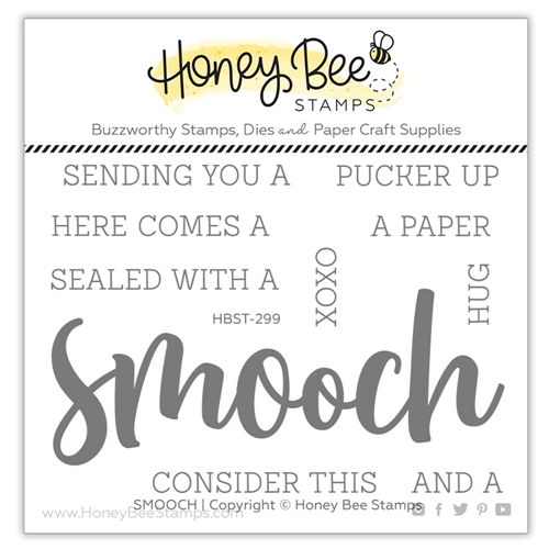 Honey Bee SMOOCH BUZZWORD Clear Stamp Set hbst299 Preview Image