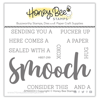 Honey Bee SMOOCH BUZZWORD Clear Stamp Set hbst299