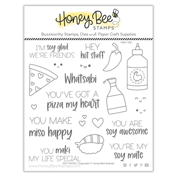 Honey Bee SOY MATES Clear Stamp Set hbst318