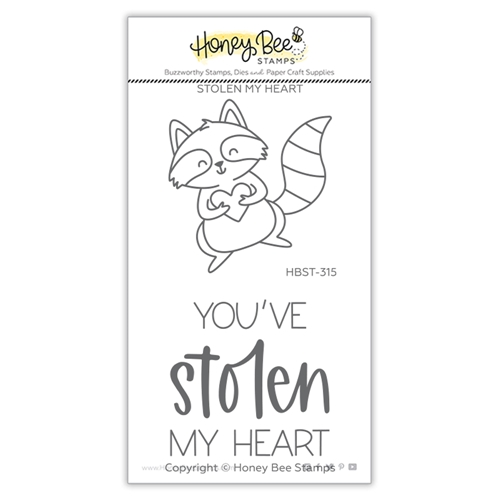 Honey Bee STOLEN MY HEART Clear Stamp Set hbst315 Preview Image