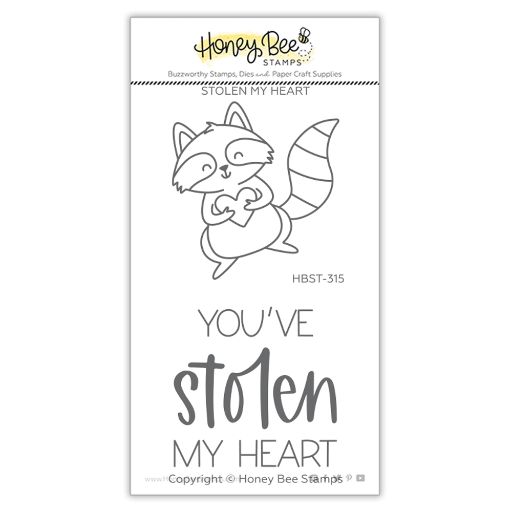 Honey Bee STOLEN MY HEART Clear Stamp Set hbst315 zoom image