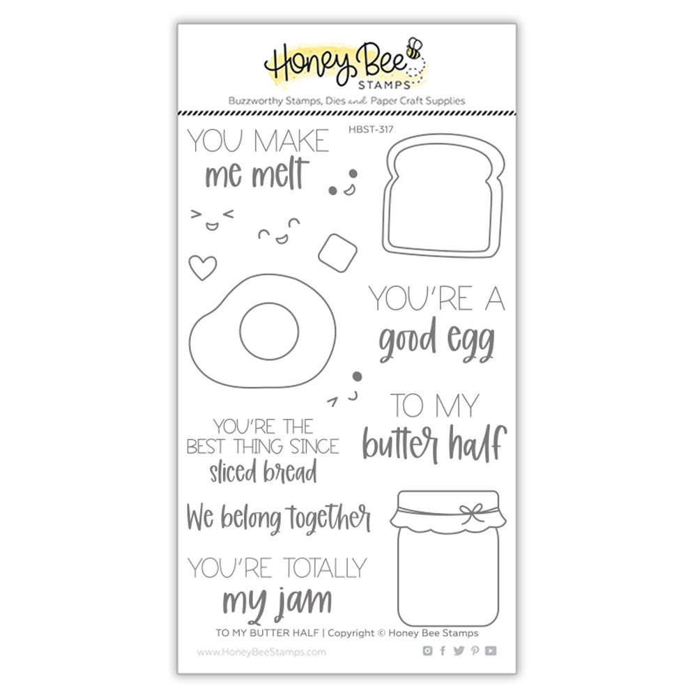 Honey Bee TO MY BUTTER HALF Clear Stamp Set hbst317 zoom image