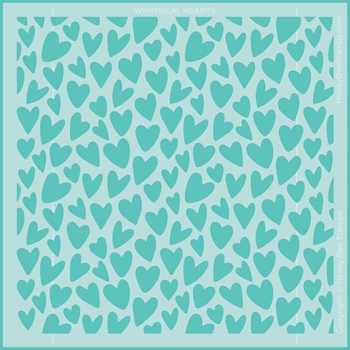 Honey Bee WHIMSICAL HEARTS Stencil hbsl077