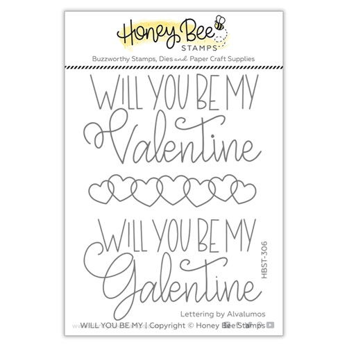Honey Bee WILL YOU BE MY Clear Stamp Set hbst306 Preview Image