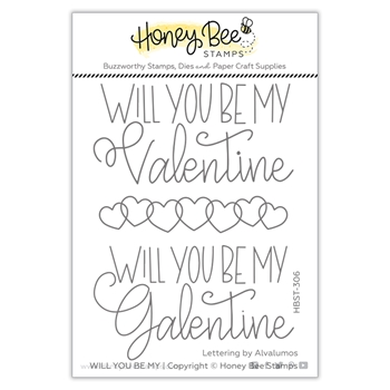 Honey Bee WILL YOU BE MY Clear Stamp Set hbst306