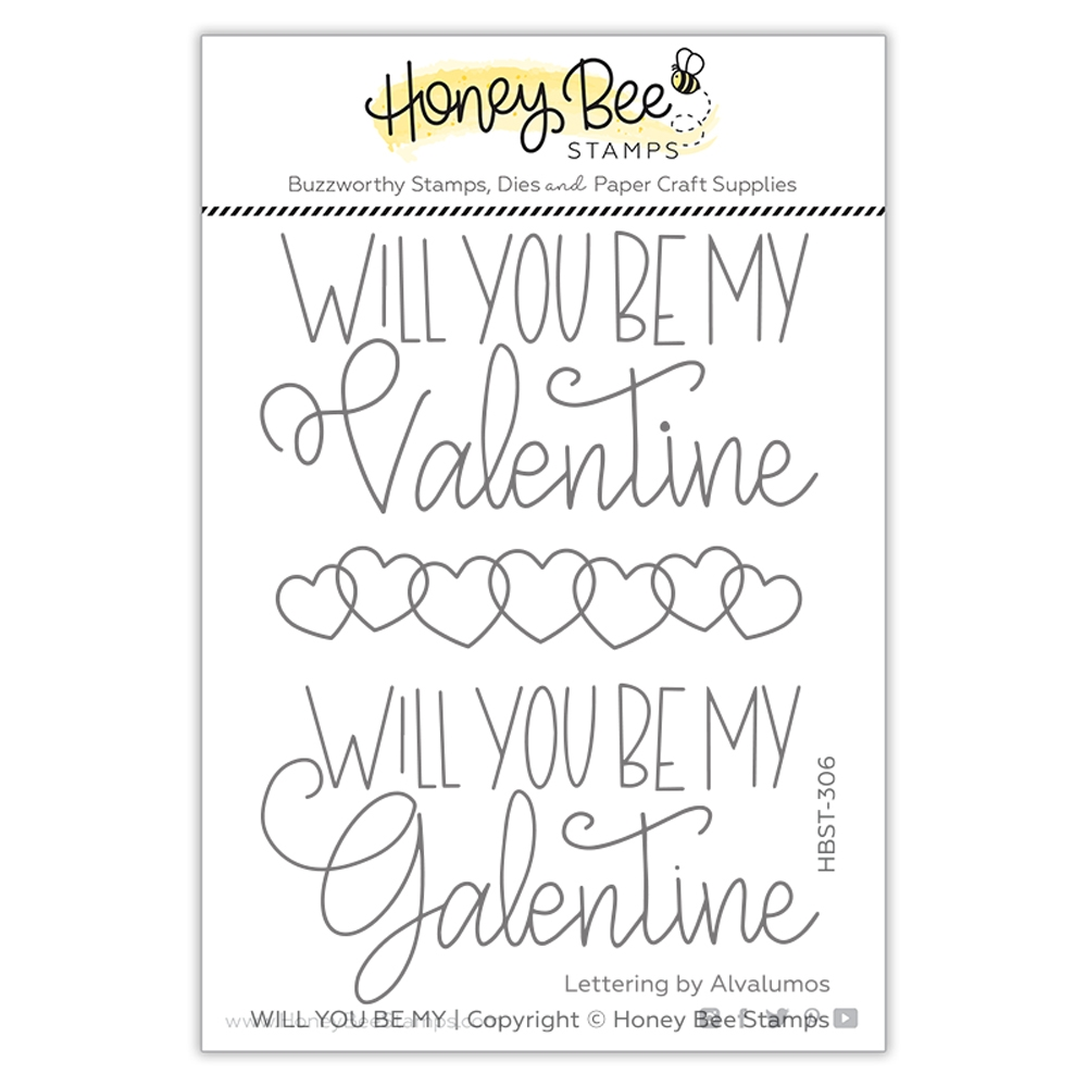 Honey Bee WILL YOU BE MY Clear Stamp Set hbst306 zoom image