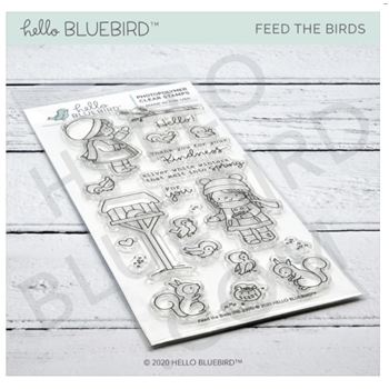 Hello Bluebird FEED THE BIRDS Clear Stamps hb2305