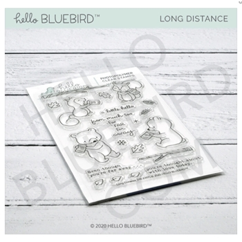 Hello Bluebird LONG DISTANCE Clear Stamps hb2307