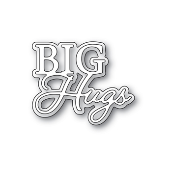 Memory Box BIG HUGS POSH SCRIPT Craft Dies 94528