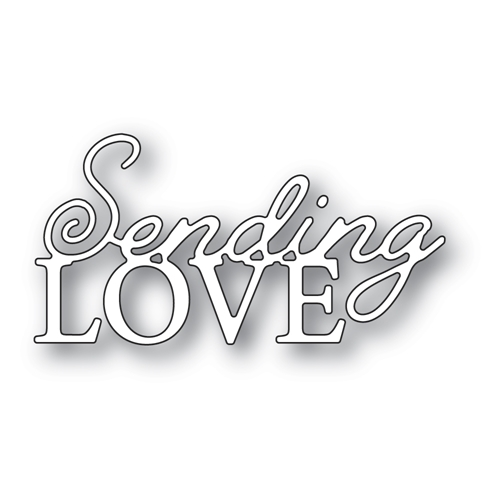 Memory Box SENDING LOVE POSH SCRIPT Craft Die 94543 Preview Image