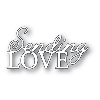 Memory Box SENDING LOVE POSH SCRIPT Craft Die 94543