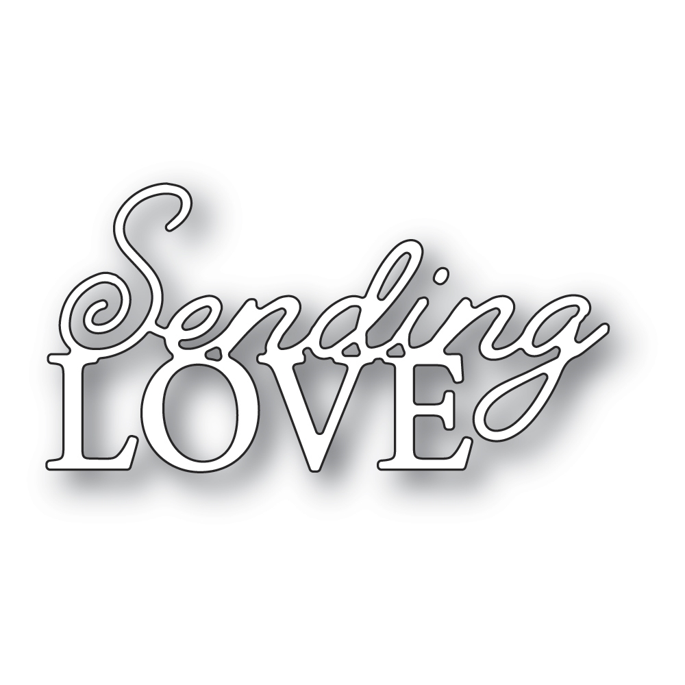 Memory Box SENDING LOVE POSH SCRIPT Craft Die 94543 zoom image
