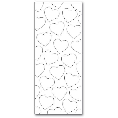 Memory Box SLIM PINPOINT HEART PLATE Craft Die 94550 Preview Image