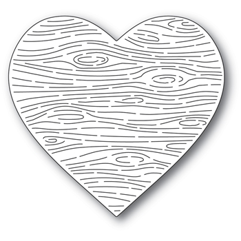 Memory Box WOODGRAIN HEART Craft Die 94552