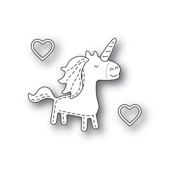Poppy Stamps WHITTLE UNICORN Craft Dies 2370