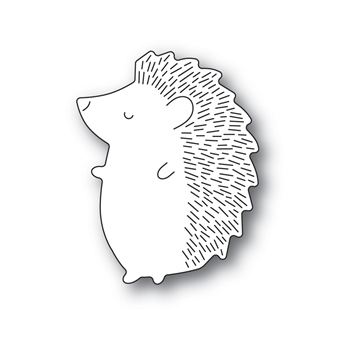 Poppy Stamps BIG HEDGEHOG LEFT Craft Die 2381