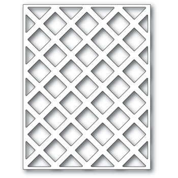 Poppy Stamps LATTICE PLATE Craft Die 2427