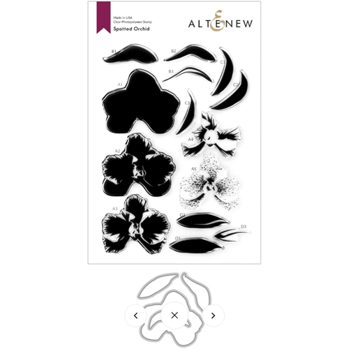 Altenew SPOTTED ORCHID Clear Stamps and Die Bundle ALT4762 Preview Image
