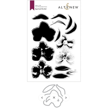 Altenew SPOTTED ORCHID Clear Stamps and Die Bundle ALT4762