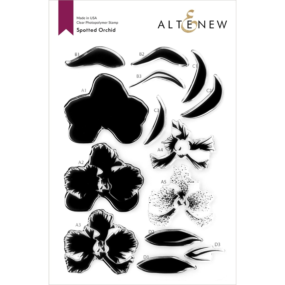 Altenew SPOTTED ORCHID Clear Stamps ALT4759 zoom image