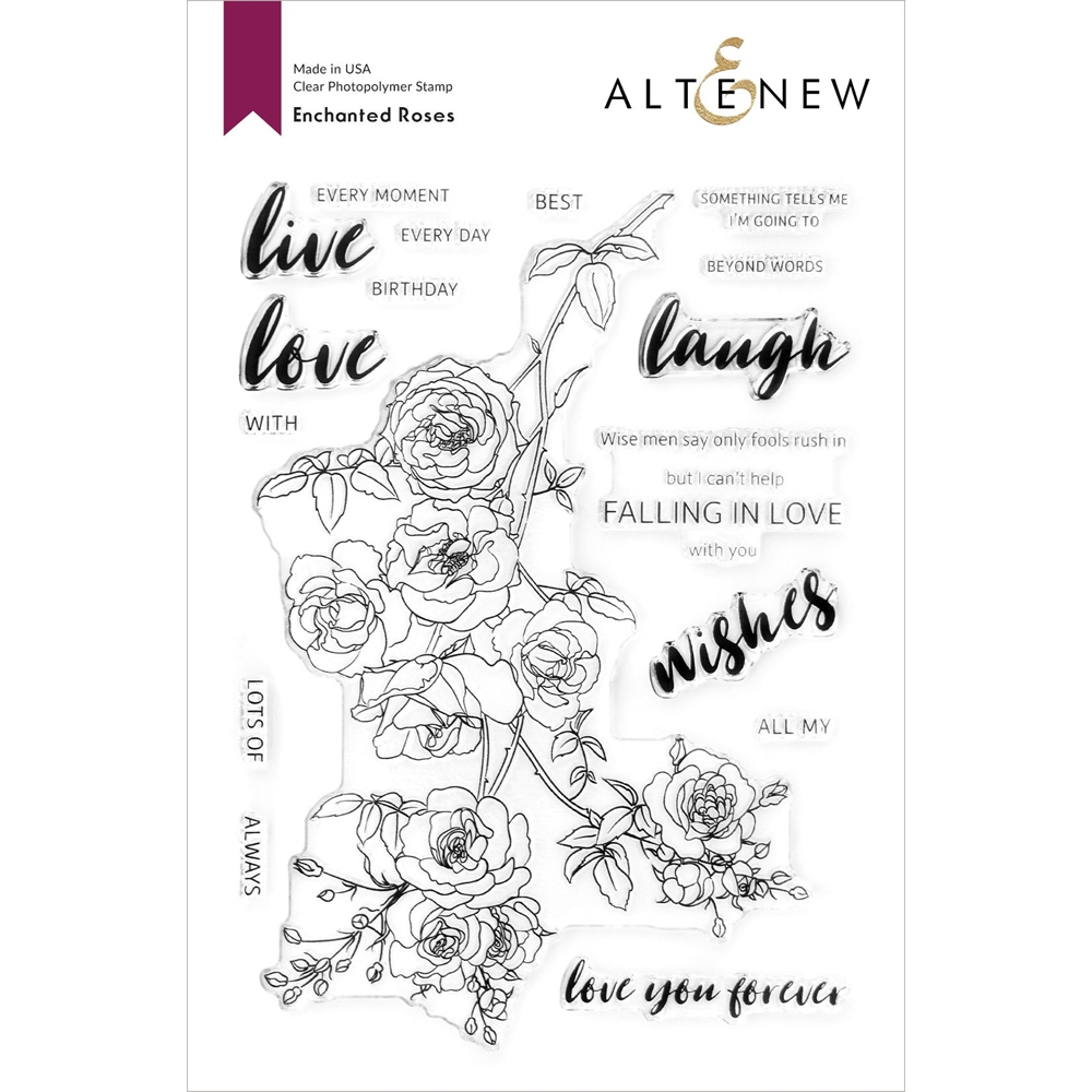 Altenew ENCHANTED ROSES Clear Stamps ALT4758 zoom image