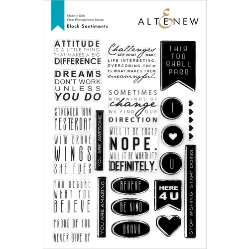 Altenew BLOCK SENTIMENTS Clear Stamps ALT4755 Preview Image