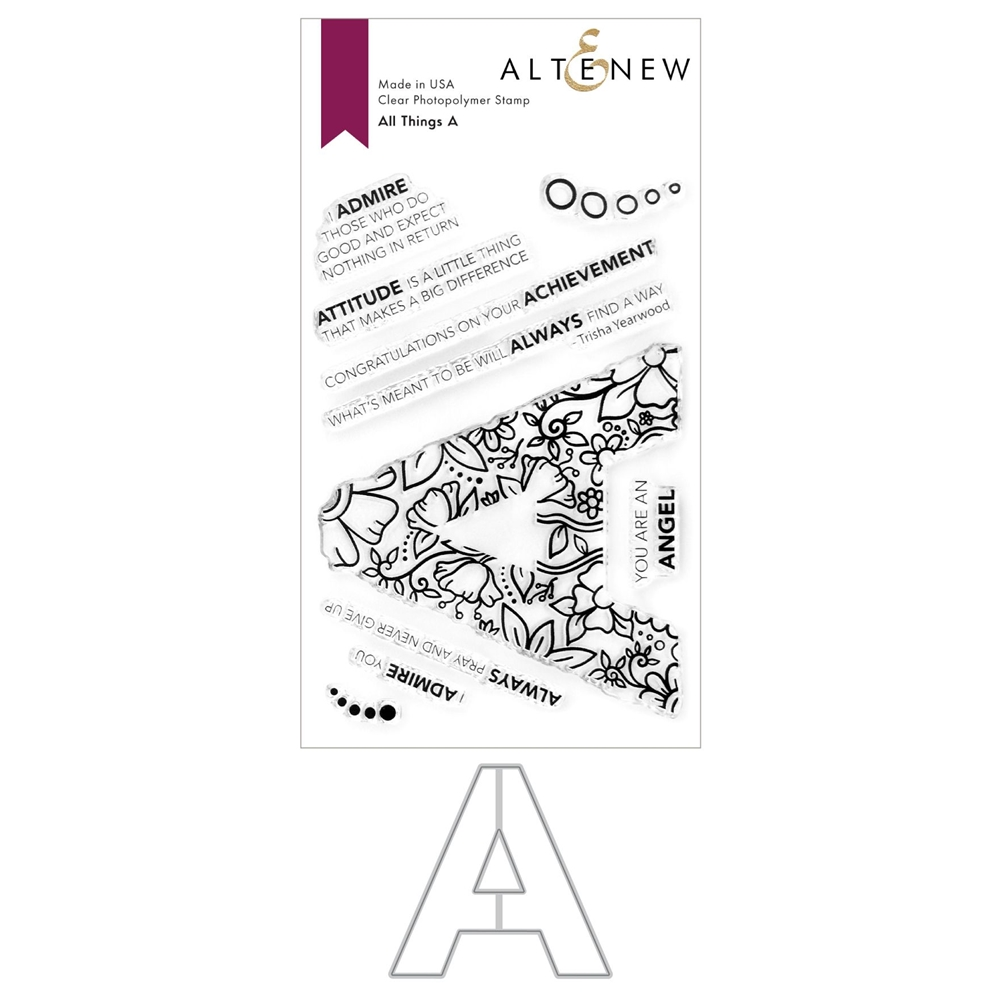 Altenew ALL THINGS A Clear Stamp and Die Bundle ALT4754 zoom image