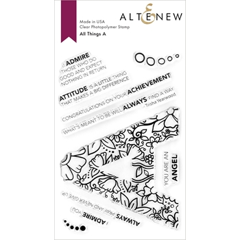 Altenew ALL THINGS LETTER A Clear Stamps ALT4752