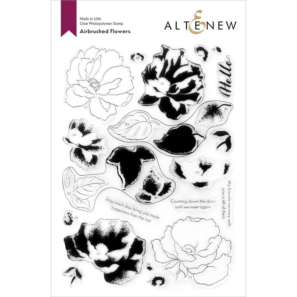 Altenew AIRBRUSHED ANEMONE FLOWER Clear Stamps ALT4747 zoom image