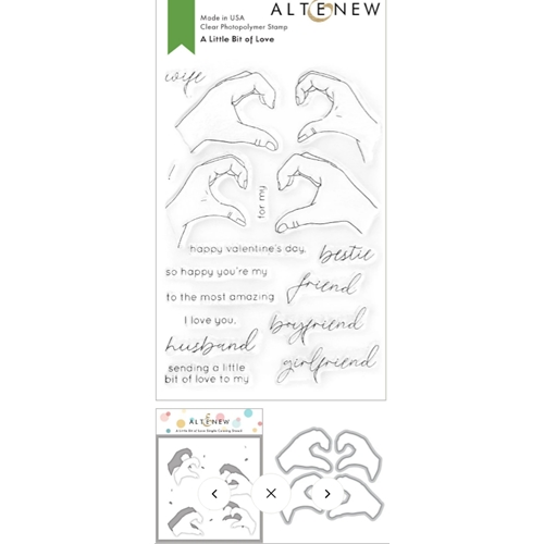 Altenew A LITTLE BIT OF LOVE Clear Stamp, Die and Mask Stencil Bundle ALT4746 Preview Image
