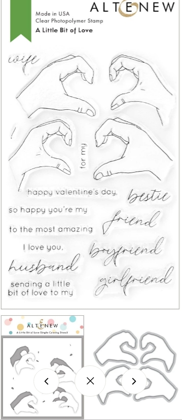 Altenew A LITTLE BIT OF LOVE Clear Stamp, Die and Mask Stencil Bundle ALT4746 zoom image