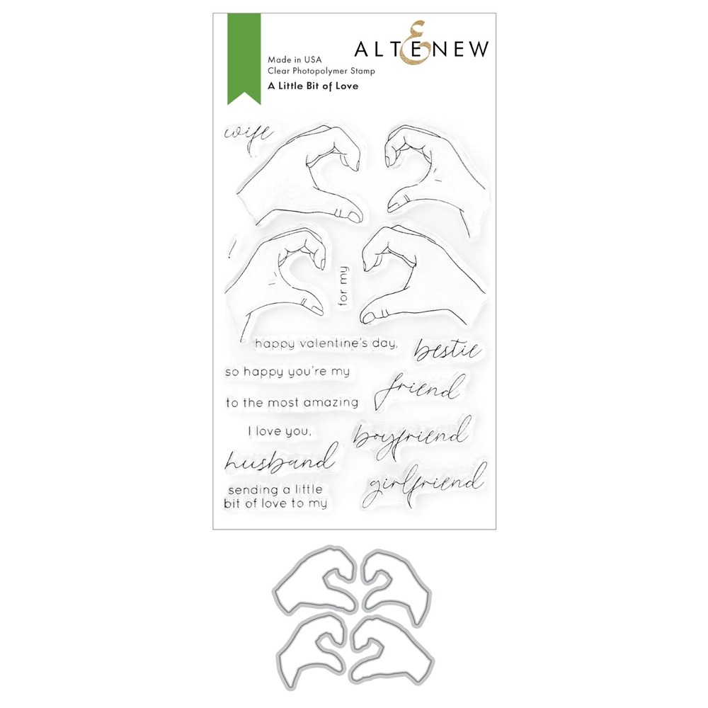 Altenew A LITTLE BIT OF LOVE Clear Stamp and Die Bundle ALT4745 zoom image