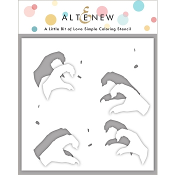 Altenew A LITTLE BIT OF LOVE Coloring Stencil ALT4744