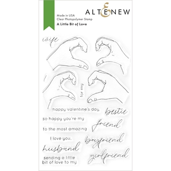 Altenew A LITTLE BIT OF LOVE Clear Stamps ALT4742