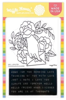 Waffle Flower LOVE LETTER Clear Stamps 420511