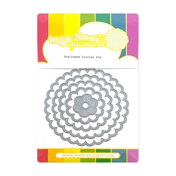 Waffle Flower SCALLOPED CIRCLES Dies 420520