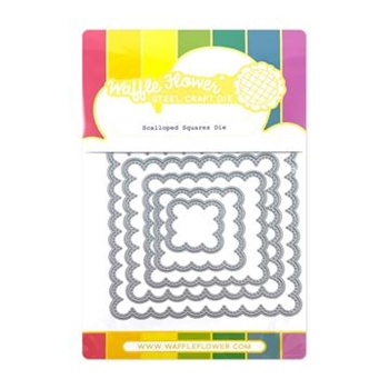 Waffle Flower SCALLOPED SQUARES Dies 420518