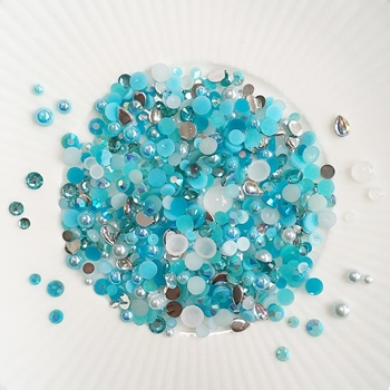 Little Things From Lucy's Cards Crystal Collection SURF Sparkly Shaker Mix LB360