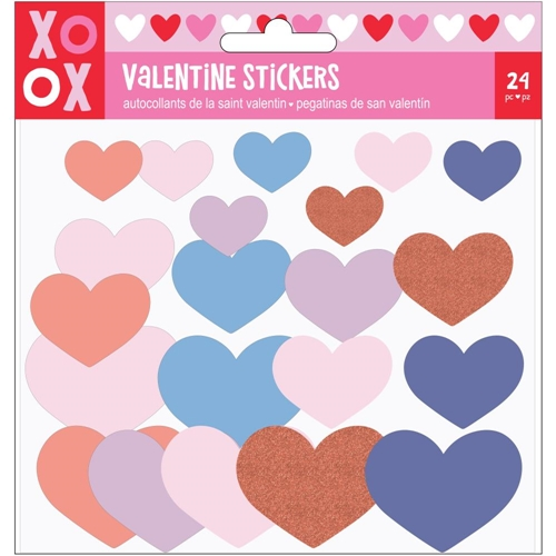 American Crafts VALENTINE FOAM HEART STICKERS 34004625* Preview Image