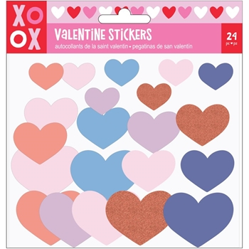 American Crafts VALENTINE FOAM HEART STICKERS 34004625