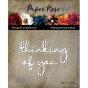 Paper Rose THINKING OF YOU FINE SCRIPT LAYERED Dies 20910