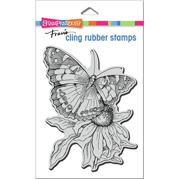 Stampendous Cling Stamp PAINTED LADY crr332