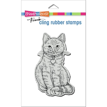Stampendous Cling Stamp SITTING KITTY crp368