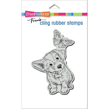 Stampendous Cling Stamp CURIOUS PUPPY crp369
