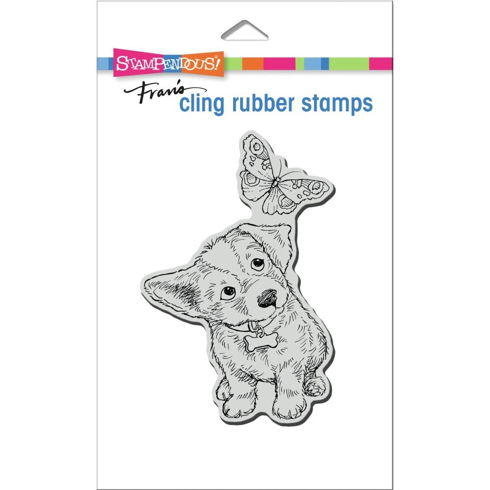 Stampendous Cling Stamp CURIOUS PUPPY crp369  zoom image