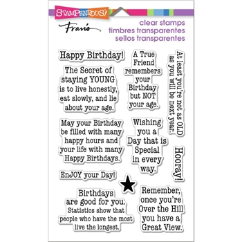 Stampendous Clear Stamps BIRTHDAY AGE ssc1385